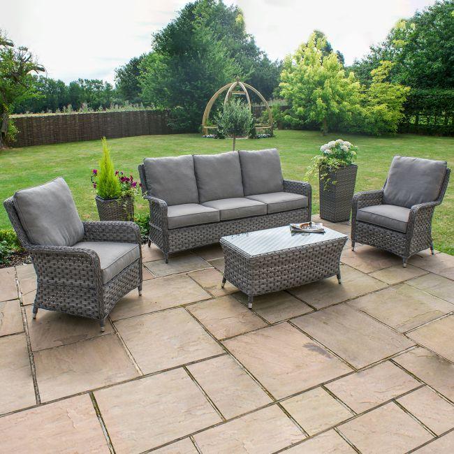 Maze Rattan - Victoria High Back 3 Seat Sofa Set