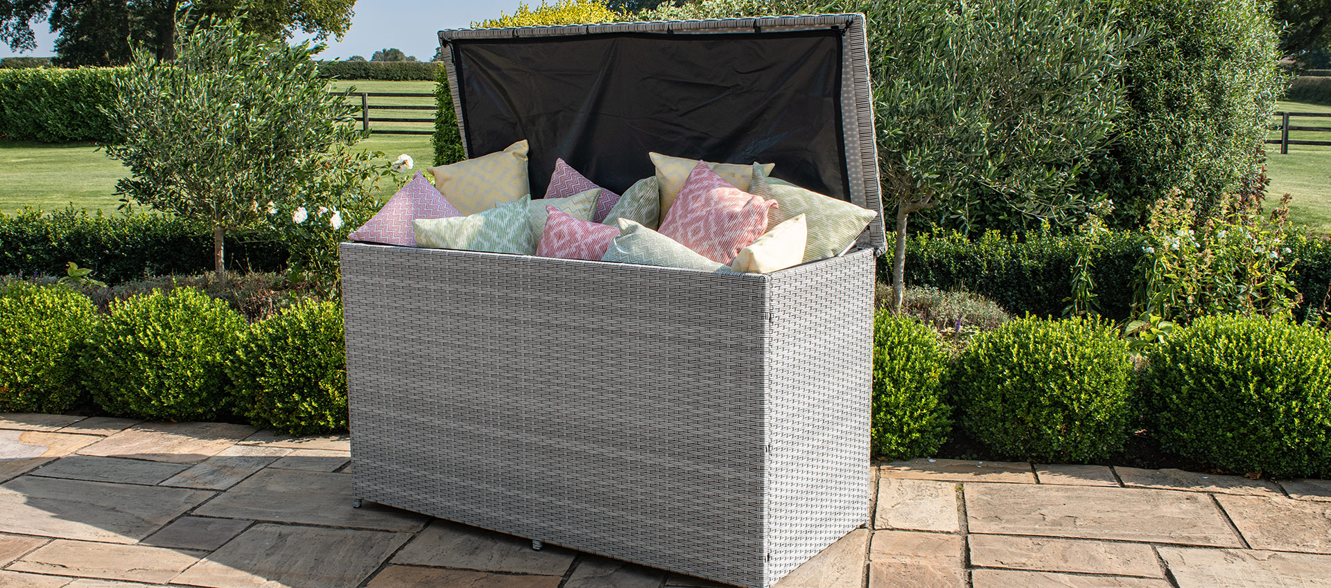 Maze Rattan - Ascot Cushions Storage Box