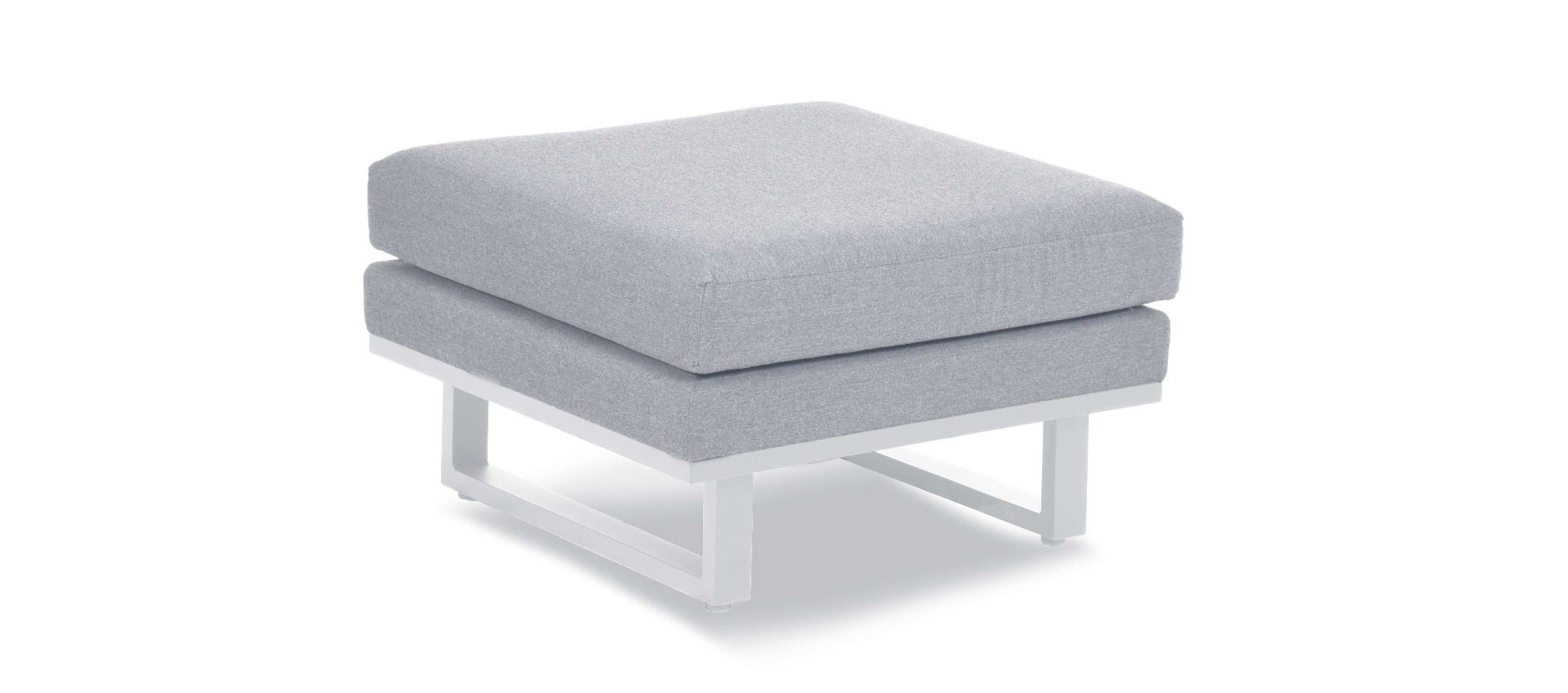 Maze Lounge - Outdoor Fabric Ethos Footstool - Lead Chine