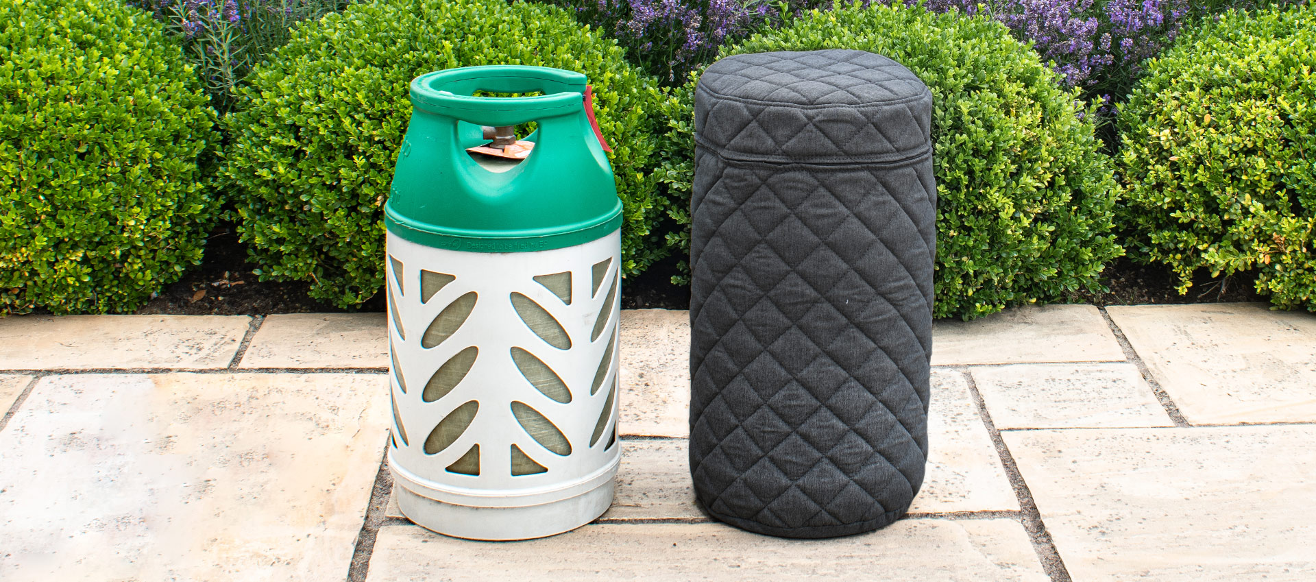 Maze Lounge - Outdoor Fabric 10KG Gas Bottle Cover - Charcoal