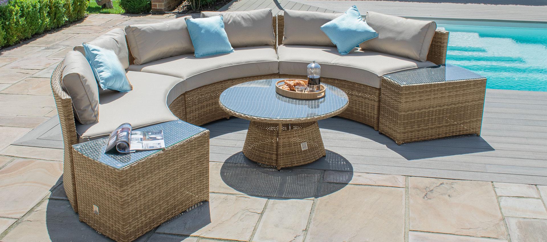 Maze Rattan - Half Moon Sofa Set - Tuscany