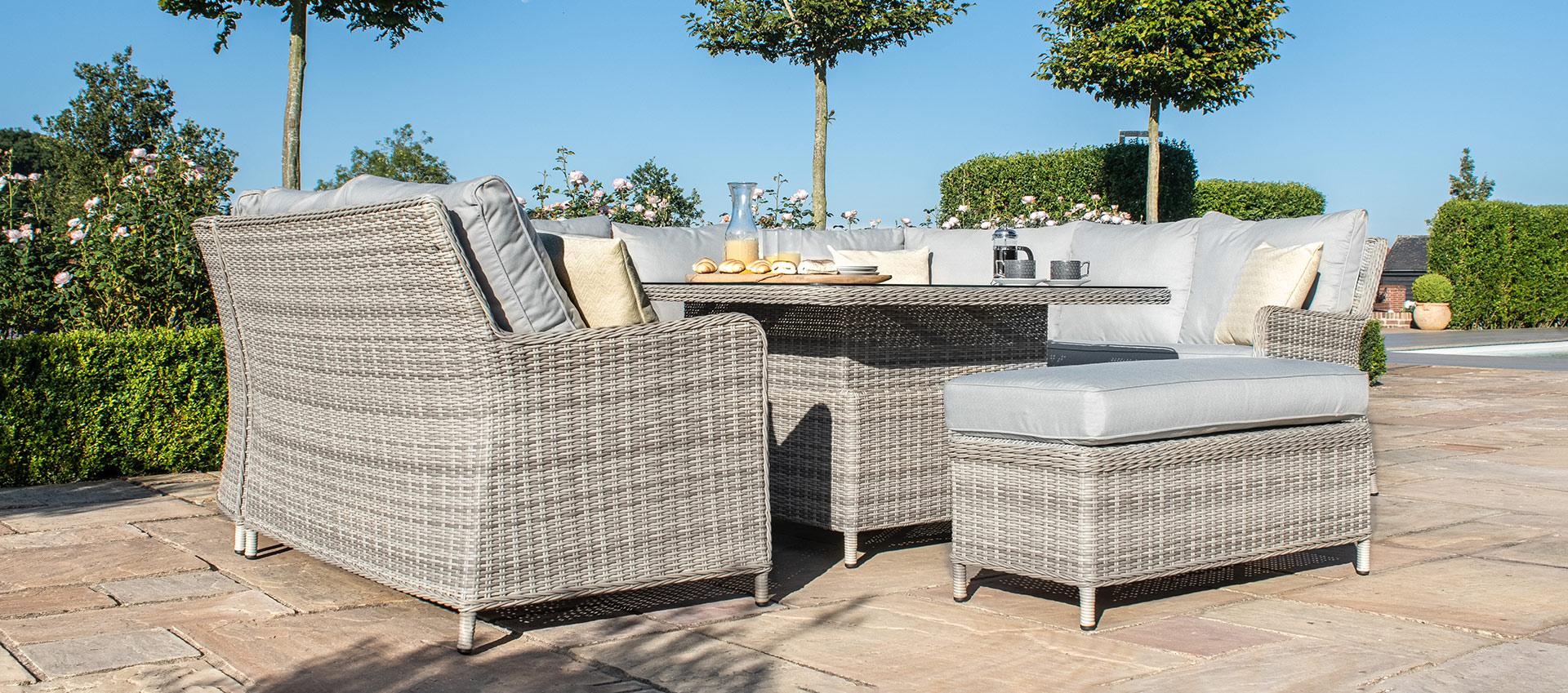 Maze Rattan - Oxford Royal U Shaped Sofa Set - With Rising Table
