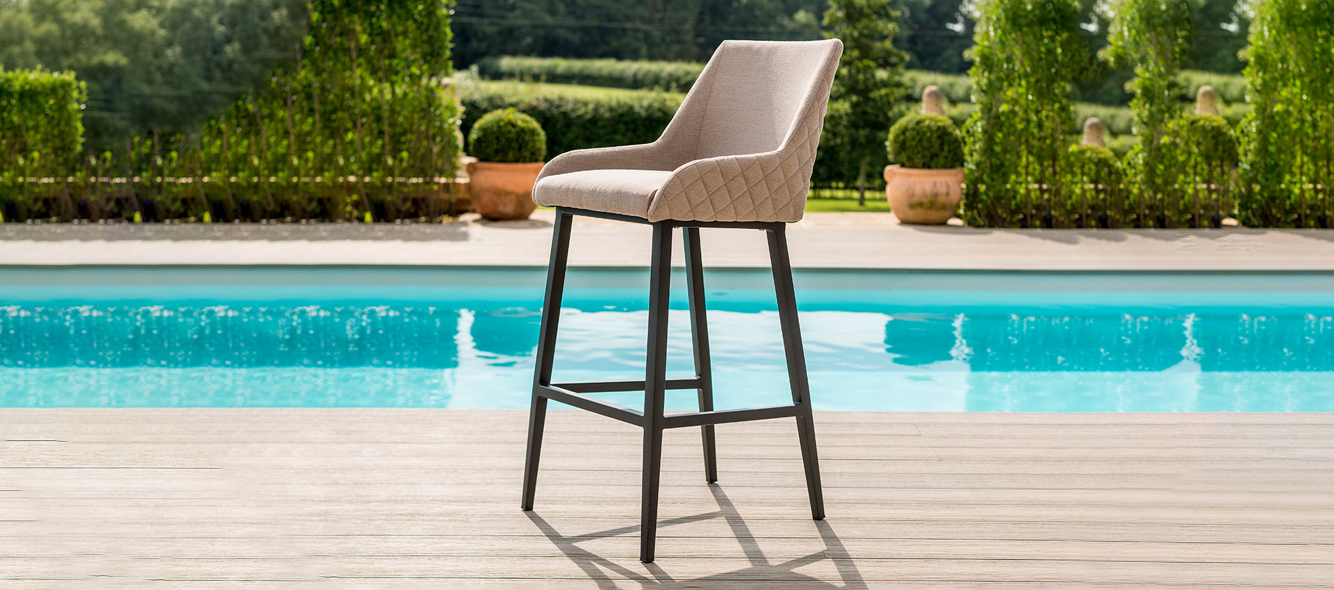 Maze Lounge - Outdoor Fabric Regal Bar Stool - Taupe
