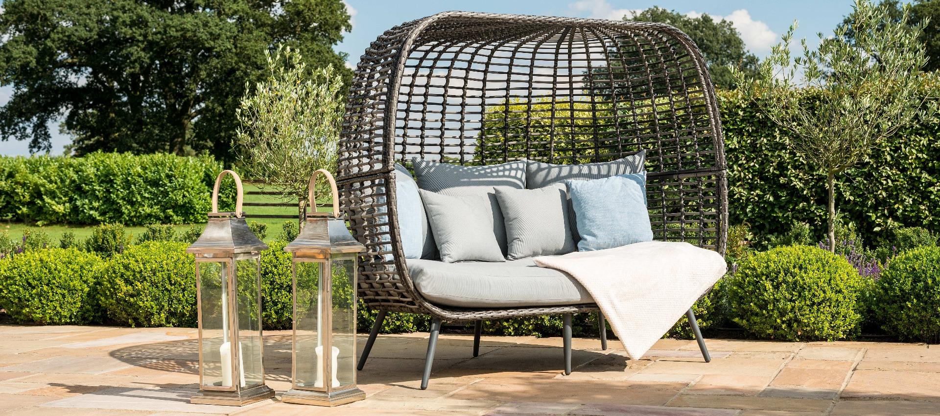 Maze Rattan - Riviera Pod Sofa - Grey
