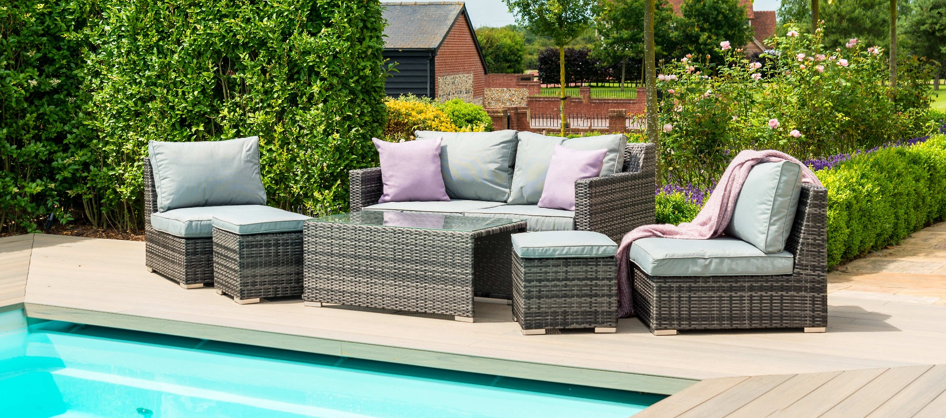 Maze Rattan - Seville Sofa Set - Grey