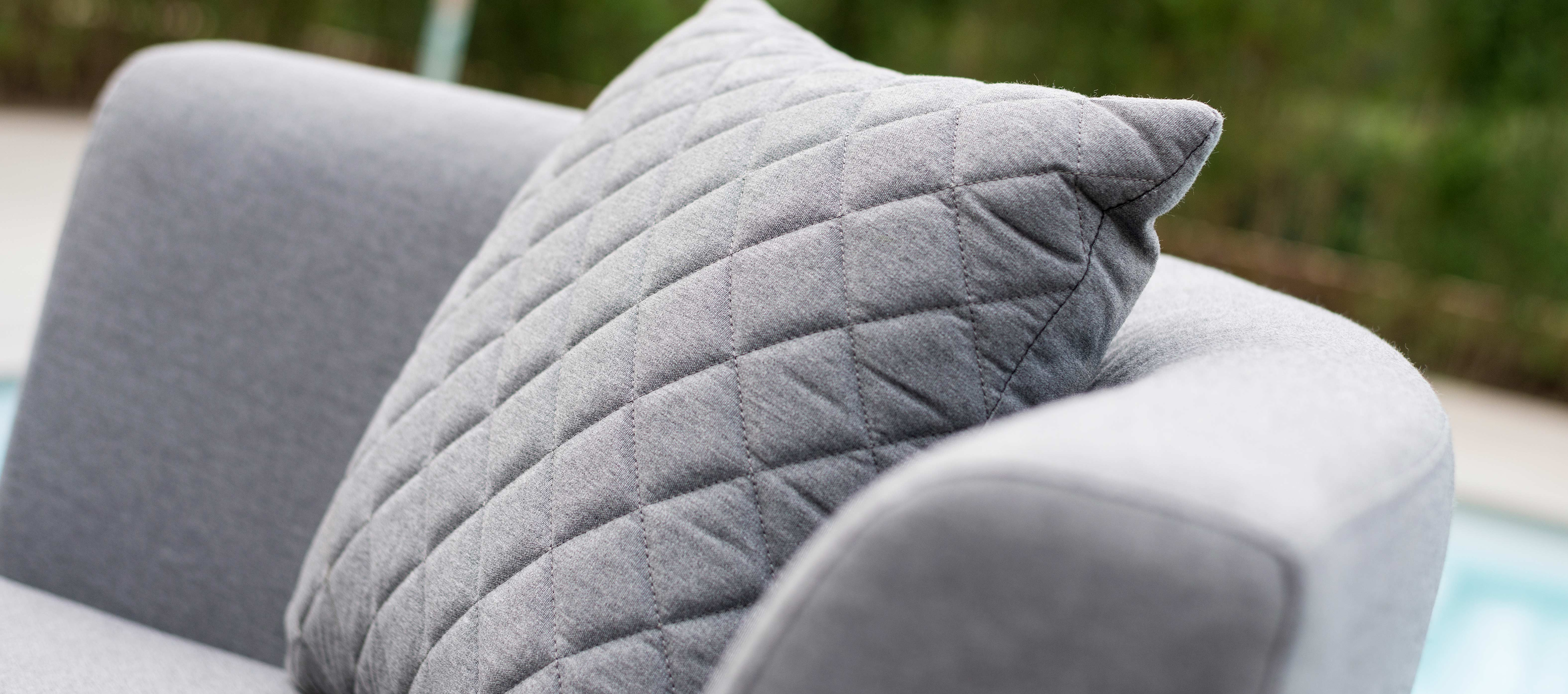 Maze Lounge - Pair of Outdoor Fabric Scatter Cushion Quilted - Flanelle