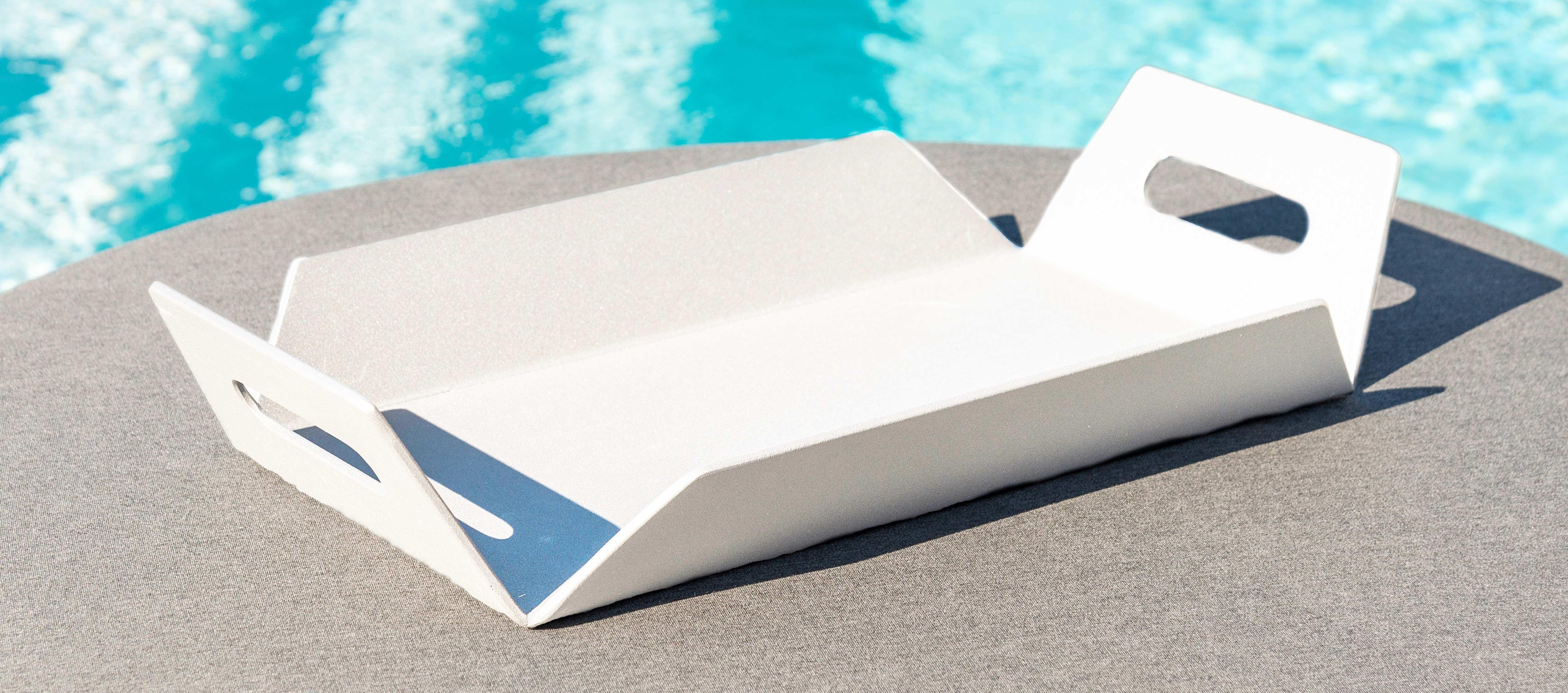 Maze Lounge - Outdoor Fabric Aluminium Table Tray - White
